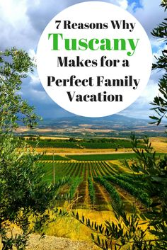 Tuscany is a popular vacation destination due to its beautiful and serene countryside and relaxed atmosphere. Here are 7 reasons why Tuscany makes for the perfect first family travel vacation abroad.