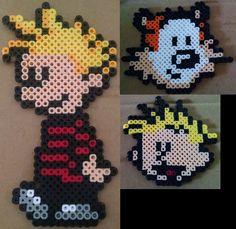 Calvin & Hobbes perler beads by chibirachy