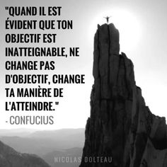 Attitude à avoir lorsque l'objectif est très élevé. - Tap the link now to Learn how I made it to 1 million in sales in 5 months with e-commerce! I'll give you the 3 advertising phases I did to make it for F Confucius Citation, Quote Citation, Positive Mind, Positive Attitude, Life Inspiration, Motivation Inspiration, Words Quotes, Life Quotes, Motivational Quotes
