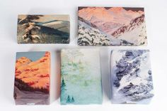mountain printed giftwrapping