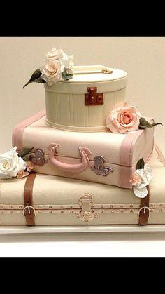 My Photo Album on WeddingWire - Hochzeitstorte Pretty Cakes, Cute Cakes, Beautiful Cakes, Amazing Cakes, Luggage Cake, Suitcase Cake, Unique Cakes, Creative Cakes, Bolo Chanel