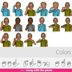 asl clip art for commercial use classroom signs pack realistic rh pinterest com