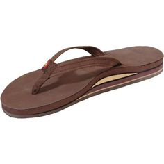 fcad22e46d1123 Womens Double Stack Narrow Strap RB Sandals - Click to Enlarge Rainbow  Sandals