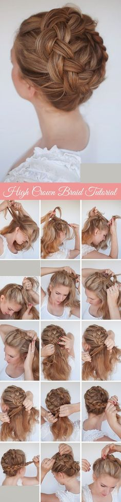 New Braid Tutorial - The High Crown Braid Tutorial...