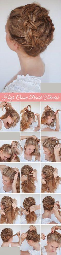 New Braid Tutorial - The High Crown Braid Tutorial...