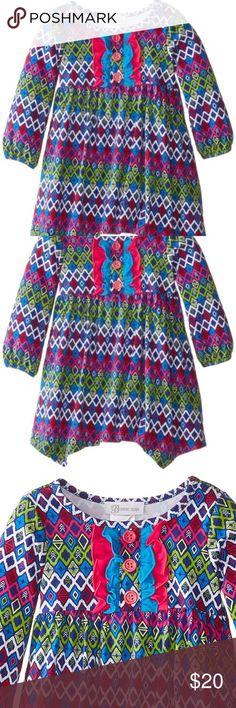 0a8cdd51e1d Bonnie Jean Tribal Print Long Sleeve Knit Dress 3T BONNIE JEAN toddler  girls multi tribal printed