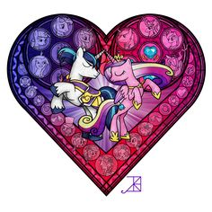 Stained Glass: MLP Royal Wedding by ~Akili-Amethyst on deviantART