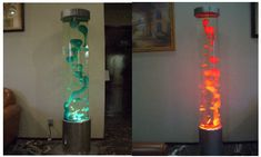 Giant Lava Lamp | giant lava lamp, blue glass sconce, lamp shades for floor lamps
