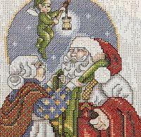Professione Donna: Schemi a punto croce: Aspettando Babbo Natale