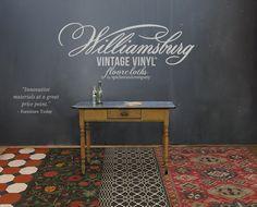 Vintage Vinyl Floorcloths - by the Artists of The Design Loft