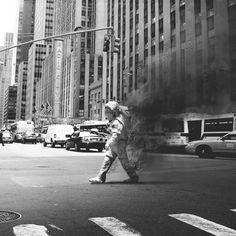 #photography #black and white # astronaut #smoke