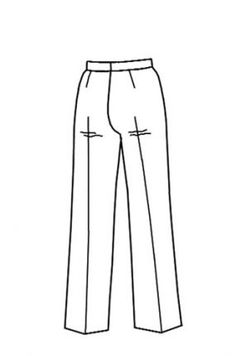 How to eliminate sags in pants. Info in the comments for doing this and increasing crotch depth in RTW (look for comments from JDTailor).