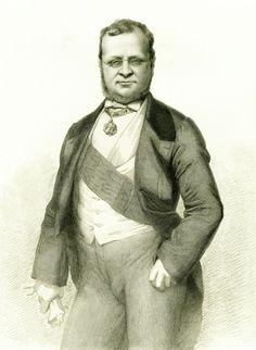 Antonio Masutti -  Portrait of Camillo Benso, Conte di Cavour (c.1860)