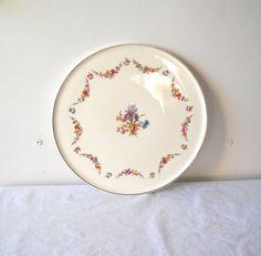Vintage Erphila Pottery Cake Plate Iris by MomsantiquesNthings, $22.00