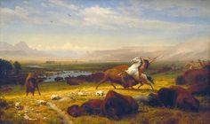Albert Bierstadt  (American; b. Solingen, Germany, 1830–d. New York City, 1902)  The Last of the Buffalo  1888  Oil on canvas  71 x 118 3/4 in. (180.3 x 301 cm)