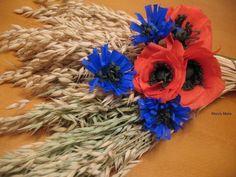 moje rękodzieło: polne kwiaty z bibuły / My craft: Wildflowers of paper