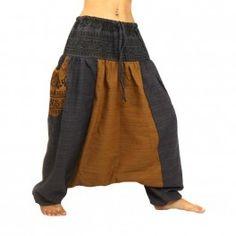 pantalons Afghani avec deux grandes poches latérales