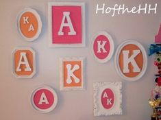 Love this DIY Wall Letter Idea for kids rooms! Discover more kids room decorating and organizing tips and ideas @ http://kidsroomdecorating.net