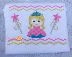 Little Princess Faux Smock 4x4, 7x3, 7x5 - Baby Kay's Appliques