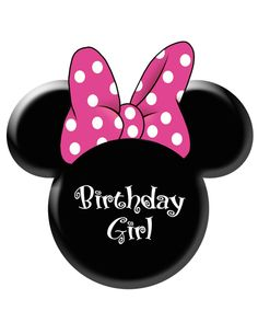 Disney Minnie Mouse Head pink bow Iron on Transfer Minnie Mouse Template, Minnie Mouse Purse, Minnie Y Mickey Mouse, Pink Minnie, Mickey Head, Minnie Birthday, 1st Birthday Parties, 2nd Birthday, Happy Birthday