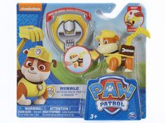 Paw Patrol Action Pack Pup and Badge - Rubble Bulldog