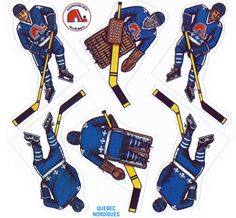 Quebec Nordiques Coleco game stickers | NHL | Hockey