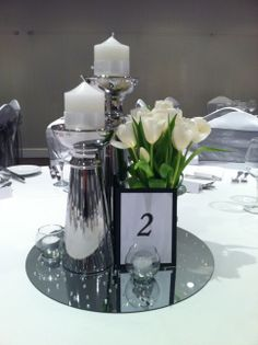 Tulip Wedding Centrepiece. I'd even place a no. 3 on it. Likely!
