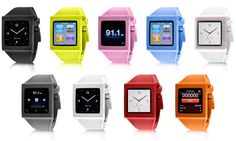 Watchbands for your iPod Nano.  Very Dick Tracy.