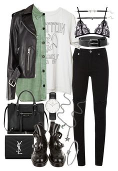 """""""Untitled #20128"""" by florencia95 ❤ liked on Polyvore featuring McQ by Alexander McQueen, Balenciaga, Yves Saint Laurent, MANGO, Daniel Wellington, Claudia Rowe and Michael Kors"""