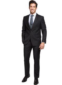 The Pembroke - Charcoal  $620.00  BONOBOS 100% Wool Charcoal Flannel Suit