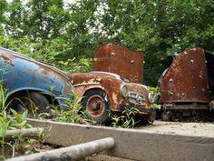 Bushkills Park, Easton PA rides rusting away
