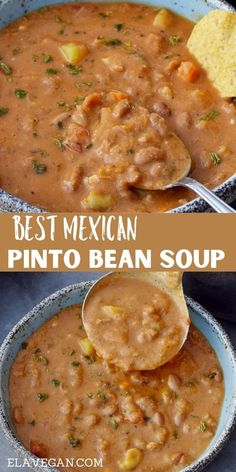 Bean Recipes, Veggie Recipes, Mexican Food Recipes, Whole Food Recipes, Soup Recipes, Vegetarian Recipes, Cooking Recipes, Healthy Recipes, Vegan Soups