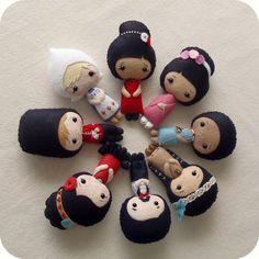 Modelli pdf International bambole - puoi scegliere due