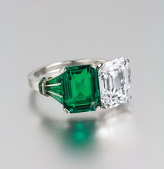 An Important Platinum, Emerald and Diamond Ring | Fine Jewelry and Timepieces | September 7-8, 2014