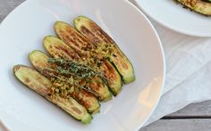 Grilled Zucchini With Herbed Crumbs [Vegan]