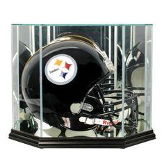 Octagon Football Helmet Display Case #footballhelmet #football #helmet #NFL #collection #memorabilia #collectible #team #display #displaycase #PerfectCases