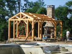 Loafing Shed Plans Key: 3760142172 Gazebo, Pergola, Loafing Shed, Run In Shed, Home On The Range, Timber Frame Homes, Post And Beam, Shed Plans, Outdoor Projects