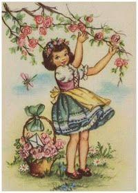super Ideas for birthday ilustration girly children books Clip Art Vintage, Images Vintage, Vintage Artwork, Vintage Children's Books, Vintage Ephemera, Vintage Pictures, Vintage Prints, Picture Postcards, Vintage Postcards
