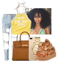 """""""Untitled #1026"""" by lover-185 ❤ liked on Polyvore featuring WithChic, Hollister Co., Aéropostale, Hermès, Michael Kors and Puma"""