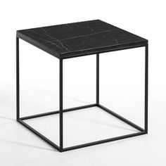 Hypnos Metal Bedside Table AM.PM Slim and super stylish, this neat metal bedside table with a single drawer embraces a contemporary, cool feel. Pedestal Side Table, Mirrored Side Tables, Metal Side Table, Mesa Metal, Black Marble Coffee Table, Square Side Table, Structure Metal, Coffee Table Design