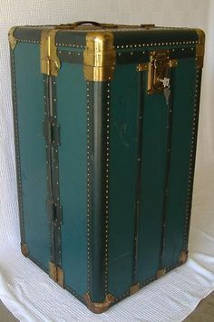 masterfully designed interior compartments c.1920's Antique Hartmann Cushion Top Steamer Trunk