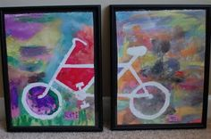fun kid craft craftiness ~ bicycle art craft for safety week. Fun Crafts For Kids, Summer Crafts, Preschool Crafts, Projects For Kids, Art For Kids, Art Projects, Arts And Crafts, Bike Craft, Bicycle Crafts