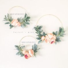 Peach Peony and Lambs Ear Wreath // Nursery Decor // Boho Nursery // Farmhouse Decor // Lambs Ear Wreath // Gold Hoop Wreath Boho Nursery, Nursery Decor, Nursery Room, Gold Wreath, Floral Wreath, Peach Peonies, Indoor Wreath, Boho Dekor, Barn Door Designs