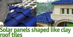 Philadelphia company SRS Energy has developed the Sole` Power Tile, a roof tile designed to sustainably convert sunlight into electricity without compromising aesthetics. The dark blue tiles are jointly branded and distributed by US Tile and specifically designed to be compatible with clay roof tiles manufactured by US Tile.""