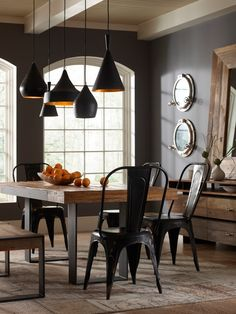 Various Porthole Mirror To Inspire Your Interior Designs Industrial Dining Room With And Pendant Lighting