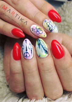 @pelikh_ Marta Rybicka Indigo nails