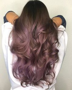 50 Purple Hair Color Ideas for Brunettes You Will Love in Purple hair color ideas for brunettes is in, ladies! When work comes to hair color ideas which can truly flatter any skin tone, purple hair colors are. Lilac Hair, Hair Color Purple, Hair Color And Cut, Hair Dye Colors, Ombre Hair, Balayage Hair, Brown Hair With Purple, Purple Tinted Hair, Haircolor