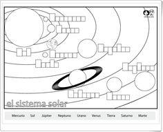 """""""El Sistema Solar"""" (Ficha de Ciencias Sociales de Primaria)"""