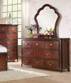Acme Cecilie Cherry Panel Dresser 30285 in $468