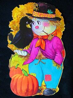 Vintage Ghost Scarecrow DieCut